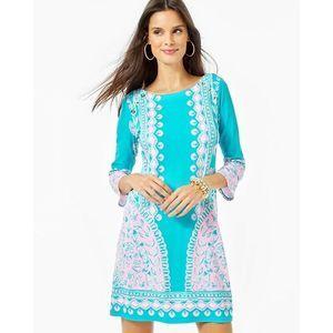 Lilly Pulitzer UPF 50+ TANA T SHIRT DRESS Teal L